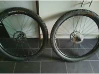 "26"" alex rims with 2.2 continental ruber queen tyres swap or sell"