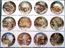 """Coalport China Collectors Plates, """"Tales of a Country Village"""""""