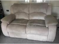 Two piece recliner lounge suite