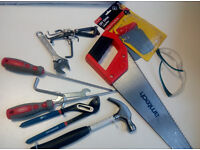 Assorted Tools - Saw, hammer, wrenches