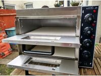 """Commercial Electric Double Deck Stone pizza oven catering equipment."""" Brand New """""""