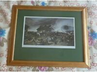 Military framed picture of a scene at the battle of Rorkes Drift