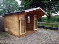 STEAL OF A PRICE! EX DISPLAY LOG CABIN 3 x 3 m - 9' x 9' ft