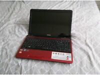 TOSHIBA LAPTOP - SATELLITE L750D / L755D, RED & CHARGER LEAD