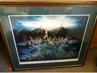 """""""Culloden the aftermath"""" Brian Wood signed print"""