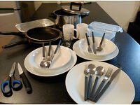 Cutlery, pans, cups, tapper for SALE!!