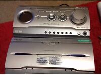 SONY MHC-W280 MINI HI FI COMPONENT SYSTEM DVD HOME CINEMA AND SPEAKERS