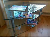 TV stand glass and chrome from John Lewis