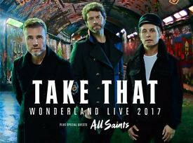 Take That concert tickets Manchester Arena Saturday 20th May 2017