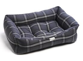 Chilli Dog Charcoal Silver Tartan Luxury Sofa Pet Cat Dog Bed | Brand New | 2 Sizes Available