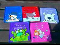 """""""That's not my"""" touchy feely toddler books X 5"""