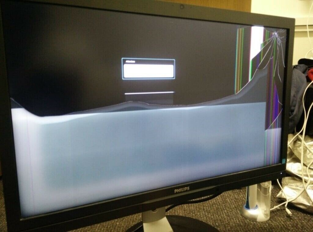 Philips 272P4GQP - Cracked Screen - Semi Working -2K