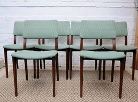 Set of 6 Italian Dining Chairs 1960's