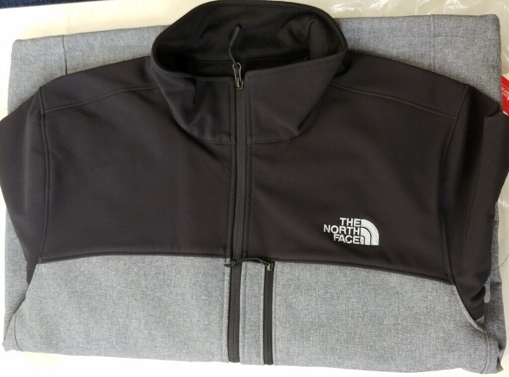 8d196d34 The North Face Apex Men's Outdoor Jacket Large Black Grey BNWT ...