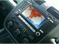 GENUINE VW MFD2 SAT NAV WITH DISC AND ANTEENA
