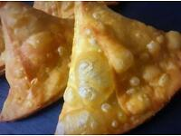 Fresh homemade samosas...Choice of fillings!