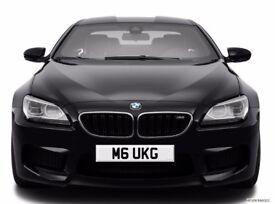 Private Plate BMW M6 UKG