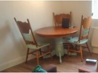 Regency round dinning table and 3 chairs