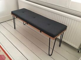 Heal's Brunel Bench and Brunel Bench Cushion - immaculate condition