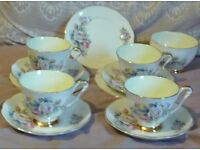 Shabby Chic Queen Anne China 12 Piece Part Tea Set