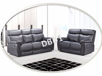 *SPECIAL OFFER* - DBL 3+2 SEATER –FREE DELIVERY - AVAILABLE IN BLACK/BROWN - WAS £1350