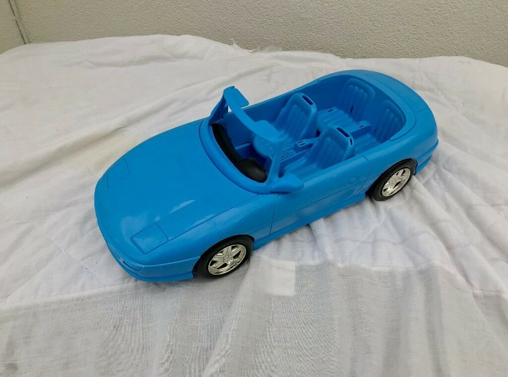 Blue 4 Seat Convertible Car Cabriolet Toy Plastic For Barbie Doll