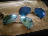 Aviator style sunglasses. Never worn