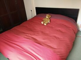 King bed MALM with slatted bed base and foam mattress SULTAN FLORVAG - £100 for both items