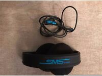 SMS Audio Headphones Street By 50 Wired Blue