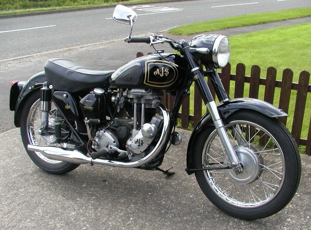 Vintage 1955 AJS ms16 350,cc in good condition and working fine