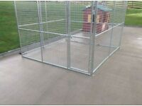 8FT BY 8FT GALVANISED DOG PEN
