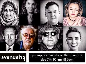 Portrait /Headshot/ pop-up studio Dec 7th Mann island