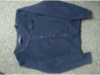 Navy cardigan age 3-4