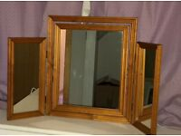 Folding 3 Panel Dressing Table Mirror