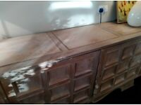 Stunning, individual limed oak sideboard