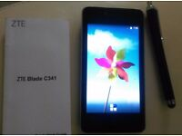 Black ZTE Blade C341 UK SIM-Free Smartphone - Black