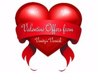 Valentine Offers on Shellac Gel Nails LVL Lashes HD Eyebrows & Individual Eyelashes in Cuffley Herts