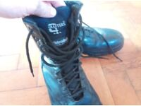 Grafters Black Patrol Combat Cadet Military Army Boots Thinsulate UK 10/11