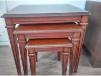 nest of tables brown ( set of three) very good condition