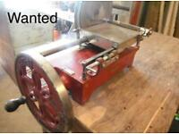 Wanted old meat slicer