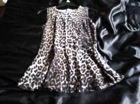 Leopard print top size 10