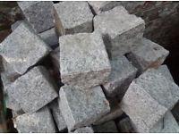 Granite natural split grey cubes 100x100x100