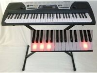 YAMAHA KEYBOARD with light-up keys (standard size) tutorial function & stand