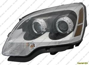Head Light Driver Side [2008-2012 (2008 2Nd Oe Design)] With Clear Lens High Quality GMC Acadia