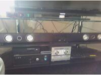 Jvc soundbar with wireless subwoofer.