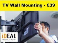 TV Wall Mounting Service - TV Bracket / TV Installation / Audio & Visual / Brackets / LED Lights