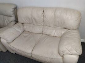Leather couch 2 seater and leather recliner free