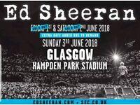 2x Ed sheeran tickets hampden park
