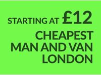 CHEAPEST BARNET Man & Van. Starting £12! Save 80%! UK Govt. approved.