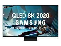 65'' SAMSUNG 8K QLED QE65Q800T SMART HDR 2000 LED TV. PLUS HDR 10.